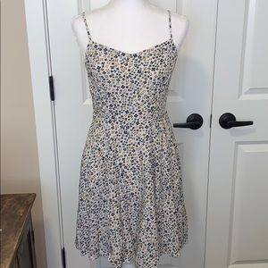 Old Navy white floral print dress.